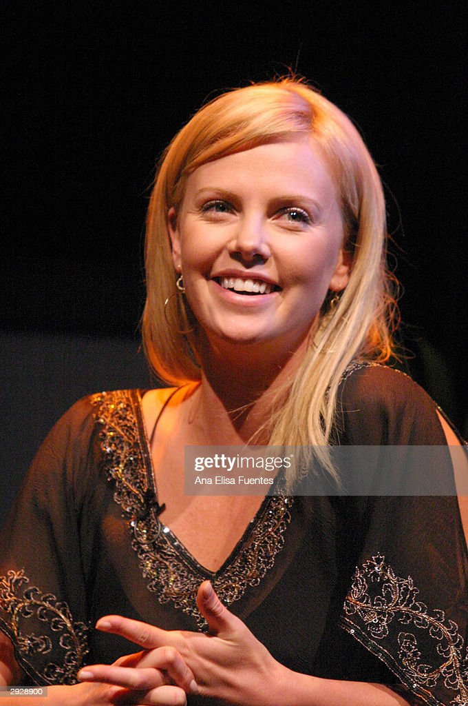'Monster' actress <a gi-track='captionPersonalityLinkClicked' href=/galleries/search?phrase=Charlize+Theron&family=editorial&specificpeople=171250 ng-click='$event.stopPropagation()'>Charlize Theron</a> smiles during the <a gi-track='captionPersonalityLinkClicked' href=/galleries/search?phrase=Charlize+Theron&family=editorial&specificpeople=171250 ng-click='$event.stopPropagation()'>Charlize Theron</a> tribute at the 2004 Santa Barbara International Film Festival on February 3, 2004 in Santa Barbara, California.