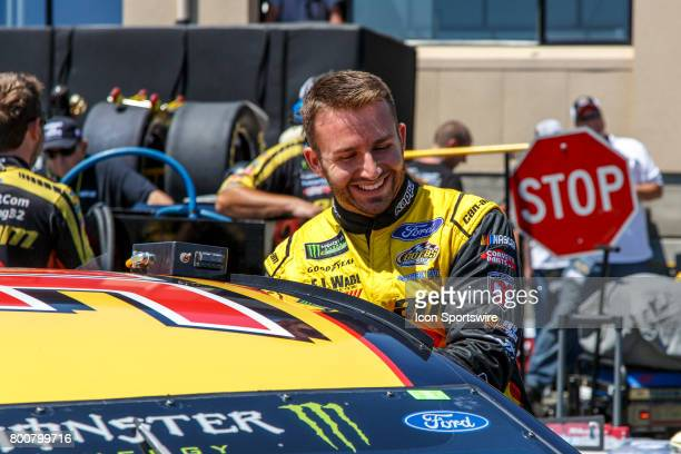 Monster Energy Cup Series driver Matt DiBenedetto getting into his car before qualification for the NASCAR Monster Energy Cup Series Toyota/Save Mart...