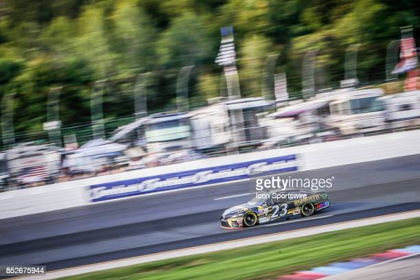 Monster Energy NASCAR Cup Series driver Corey LaJoie drives during qualifying for the NASCAR Monster Energy Series ISM Connect 300 playoff race on...