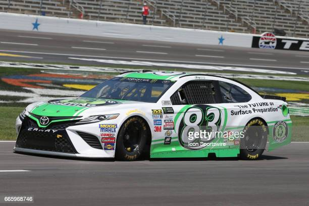 Monster Energy NASCAR Cup Series driver Corey LaJoie drives on pit road during practice for the Monster Energy NASCAR Cup Series O'Reilly Auto Parts...