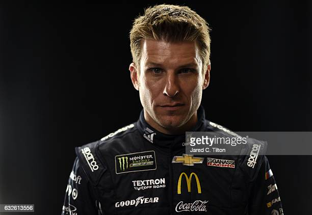 Monster Energy NASCAR Cup Series driver Jamie McMurray poses for a photo during the NASCAR 2017 Media Tour at the Charlotte Convention Center on...