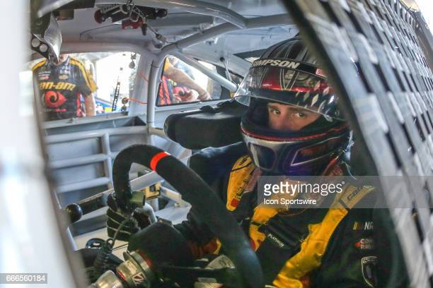 Monster Energy NASCAR Cup Series driver Matt DiBenedetto waits in his car during practice for the Monster Energy NASCAR Cup Series O'Reilly Auto...