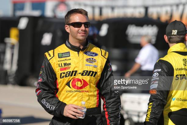 Monster Energy NASCAR Cup Series driver Matt DiBenedetto walks the grid prior to qualifying for the Monster Energy NASCAR Cup Series O'Reilly Auto...