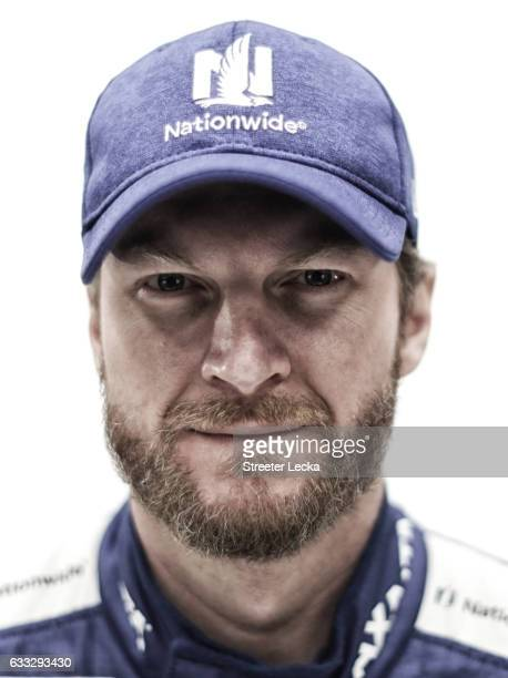 Monster Energy NASCAR Sprint Cup Series driver Dale Earnhardt Jr poses for a photo during the NASCAR 2017 Media Tour at the Charlotte Convention...