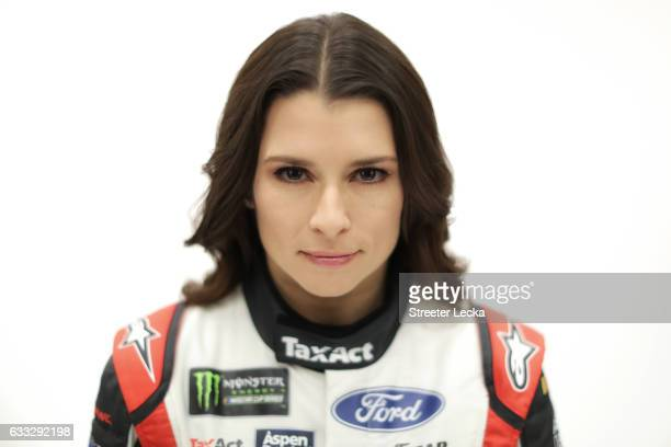 Monster Energy NASCAR Sprint Cup Series driver Danica Patrick poses for a photo during the NASCAR 2017 Media Tour at the Charlotte Convention Center...