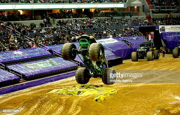 'Monster Trucks' race for elimination on January 24 2014 in Washington United States to be in the World Monster Truck Final which will be held...