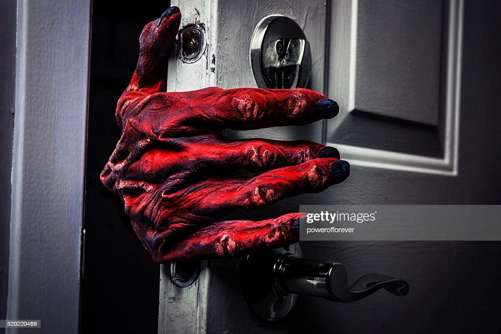 Monster's Hand Comming in the Door