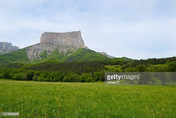 Mont Aiguille surrounded by beautiful nature