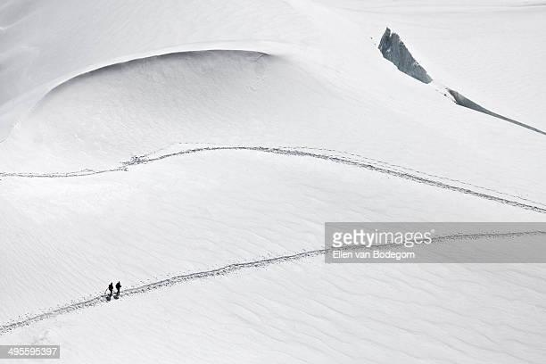 Mont Blanc alpine climbers