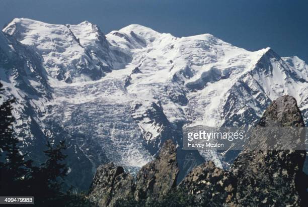 Mont Blanc in the Graian Alps Europe circa 1960