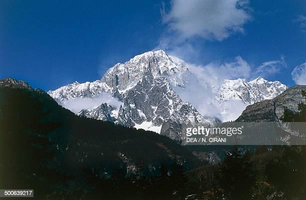 Mont Blanc massif 4810 m Aosta Valley Italy