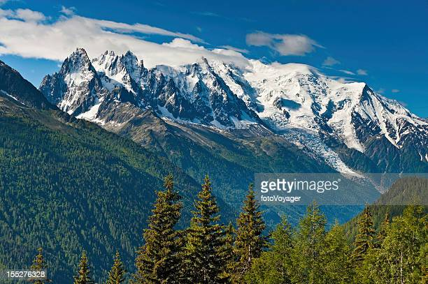 Mont Blanc massif Chamonix valley mountains France