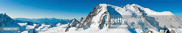 Mont Blanc snow summit super panorama Alps France