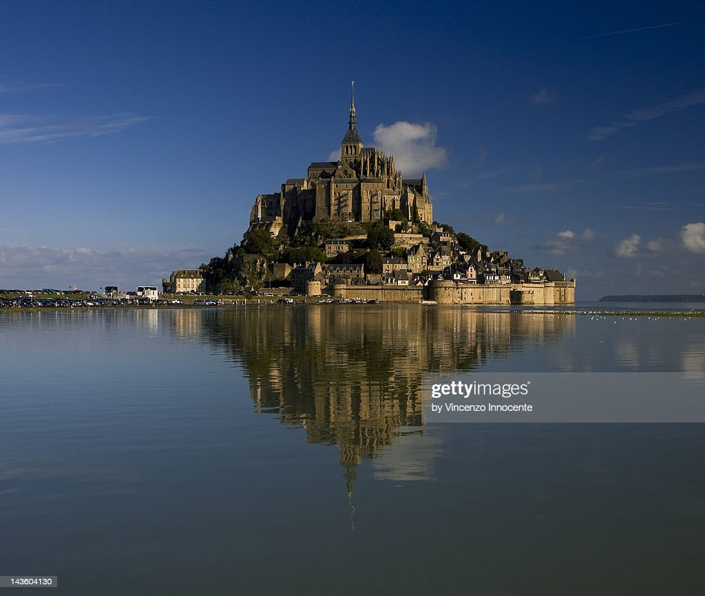 Mont Saint-Michel in open sea