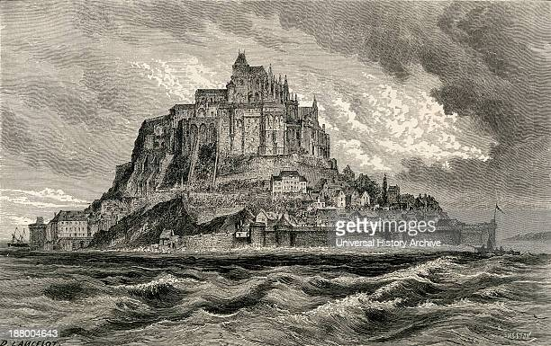 Mont SaintMichel Normandy France In The 19Th Century From French Pictures By The Rev Samuel G Green Published 1878