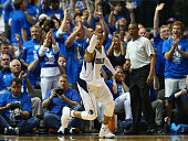 Monta Ellis of the Dallas Mavericks reacts against the Houston Rockets during Game Three of the Western Conference quarterfinals of the 2015 NBA...