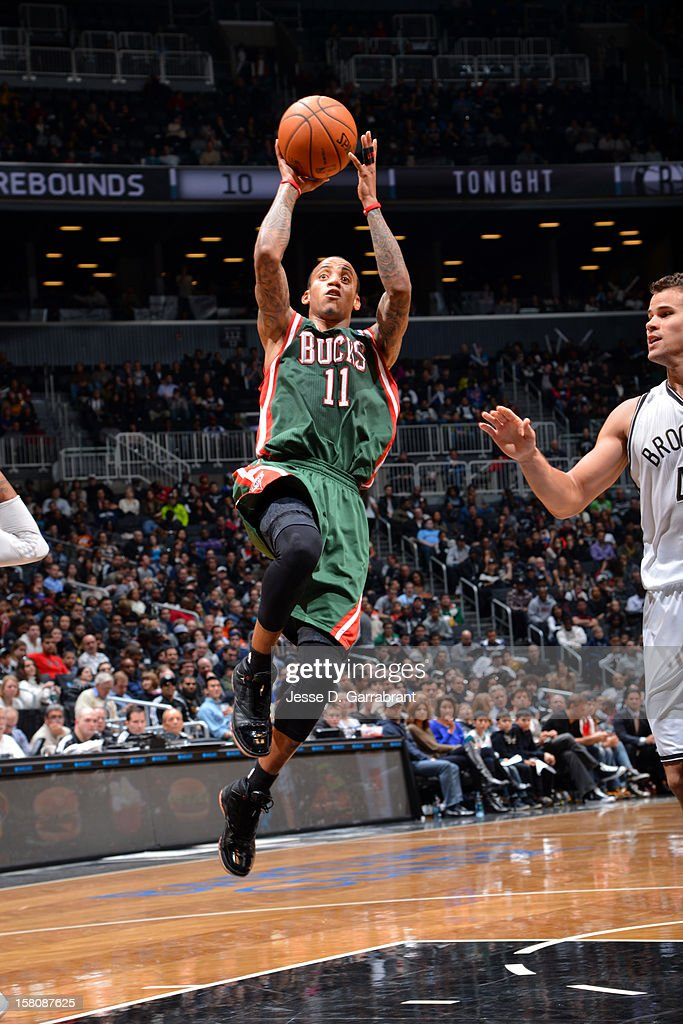 <a gi-track='captionPersonalityLinkClicked' href=/galleries/search?phrase=Monta+Ellis&family=editorial&specificpeople=567403 ng-click='$event.stopPropagation()'>Monta Ellis</a> #11 of the Milwaukee Bucks drives to the basket against the Brooklyn Nets on December 9, 2012 at the Barclays Center in Brooklyn, New York.