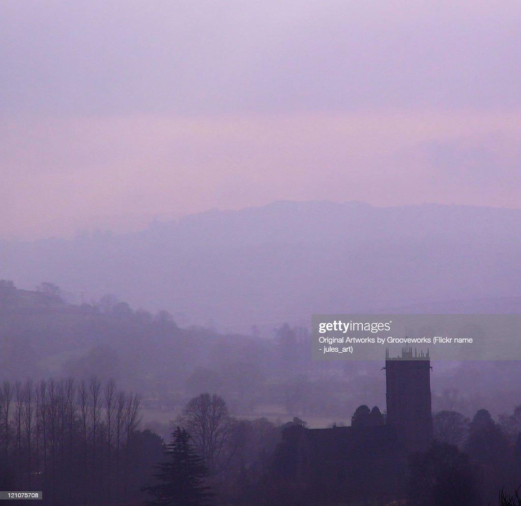 Montacute at dawn : Stock Photo