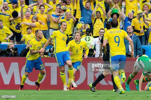 Montag Europameisterschaft in Frankreich SaintDenis Irland SchwedenMontag Europameisterschaft in Frankreich SaintDenis Irland Schweden jubel nach dem...