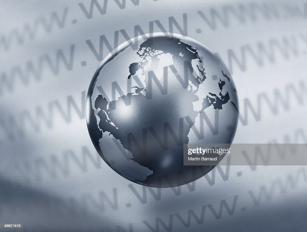 Montage of globe and www text : Stock Photo