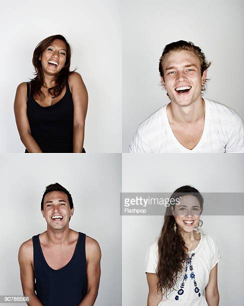 Montage of men and women smiling