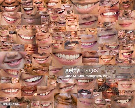 Montage of smiles