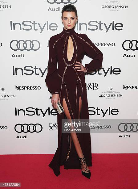 Montana Cox arrives at the 2015 Women Of Style Awards at Carriageworks on May 13 2015 in Sydney Australia