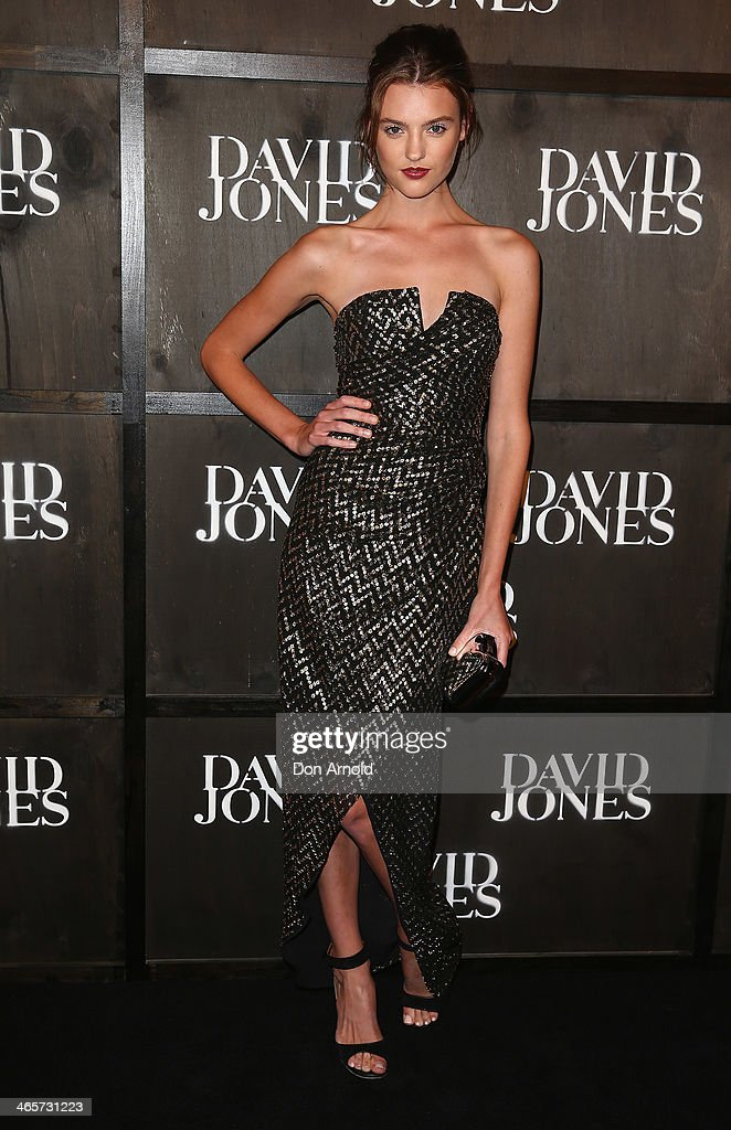 Montana Cox arrives at the David Jones A/W 2014 Collection Launch at the David Jones Elizabeth Street Store on January 29, 2014 in Sydney, Australia.
