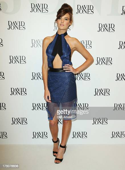 Montana Cox arrives at the David Jones Spring/Summer 2013 Collection Launch at David Jones Elizabeth Street on July 31 2013 in Sydney Australia