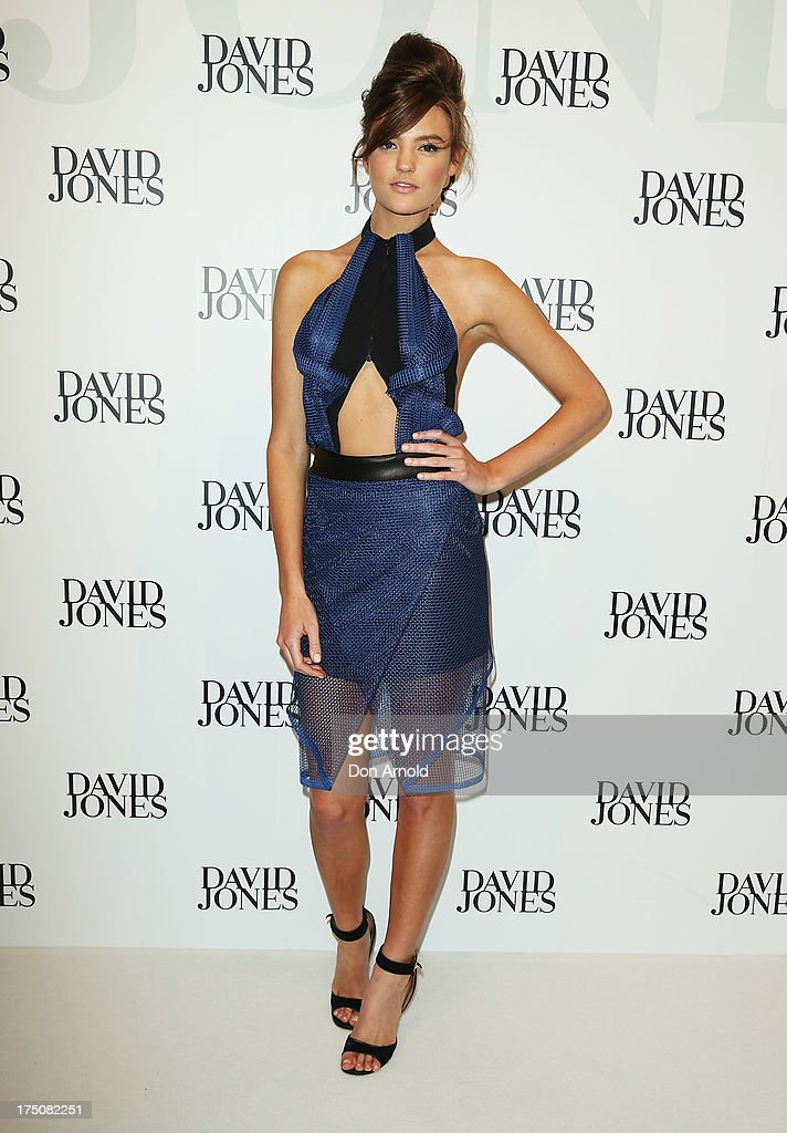 Montana Cox arrives at the David Jones Spring/Summer 2013 Collection Launch at David Jones Elizabeth Street on July 31, 2013 in Sydney, Australia.