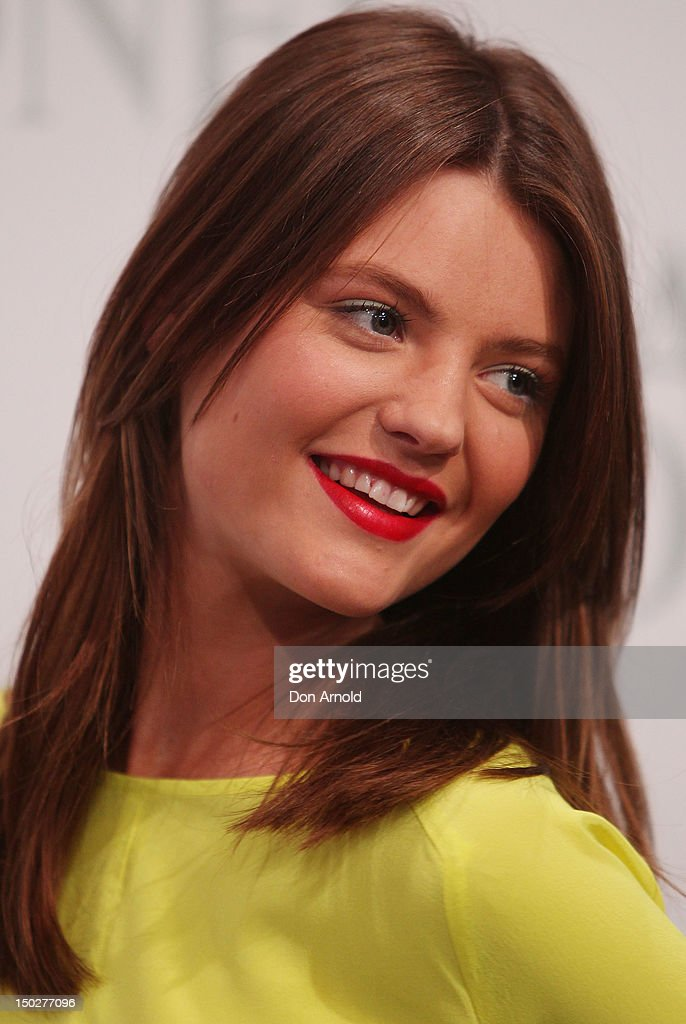 Montana Cox attends the David Jones S/S 2012/13 Season Launch at David Jones Castlereagh Street, on August 14, 2012 in Sydney, Australia.