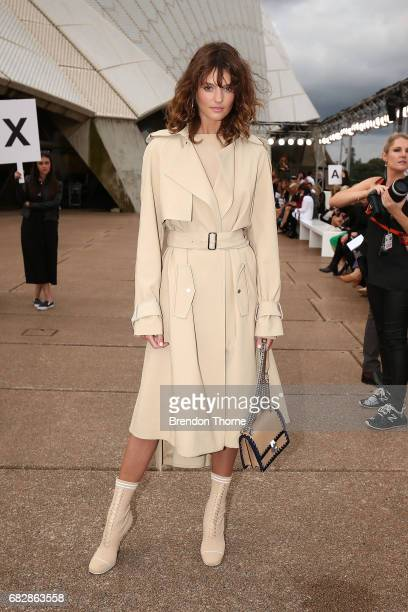 Montana Cox attends the MercedesBenz Presents Dion Lee show at MercedesBenz Fashion Week Resort 18 Collections at the Sydney Opera House on May 14...