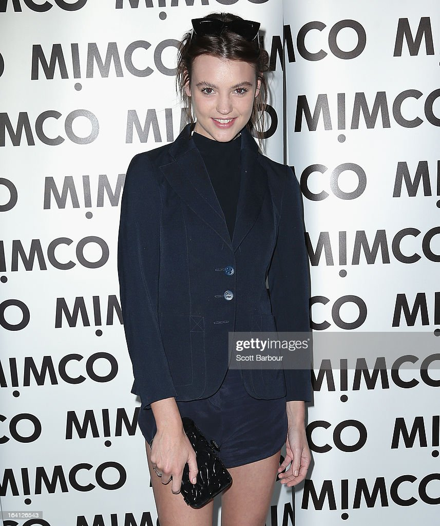 Montana Cox attends the MIMCO show during L'Oreal Melbourne Fashion Festival on March 20, 2013 in Melbourne, Australia.