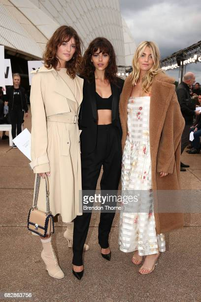 Montana Cox Georgia Fowler and Elyse Taylor attend the MercedesBenz Presents Dion Lee show at MercedesBenz Fashion Week Resort 18 Collections at the...