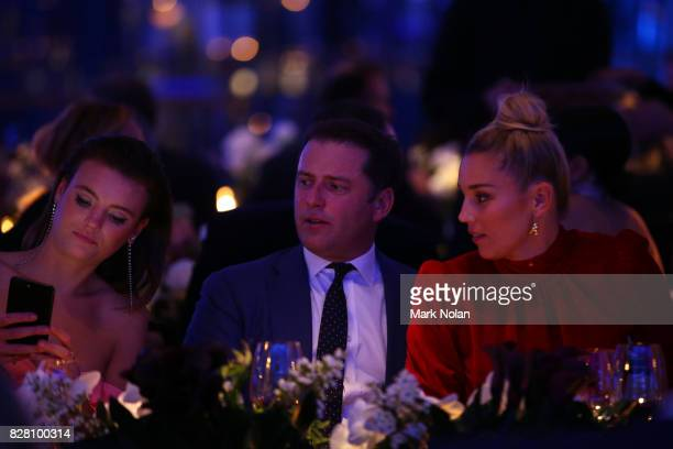 Montana Cox Karl Stefanovic and Jasmine Yarbrough attend the David Jones Spring Summer 2017 Collections Launch at David Jones Elizabeth Street Store...