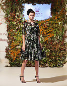 Montana Cox showcases designs by Dolce and Gabbana at the Crown's Autumn Ladies Lunch at David Jones Elizabeth Street Store on March 20 2015 in...