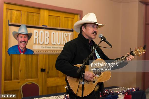Montana Democrat Rob Quist campaigns on March 10 2017 in Livingston Montana Quist is campaigning for the House of Representatives seat vacated by...