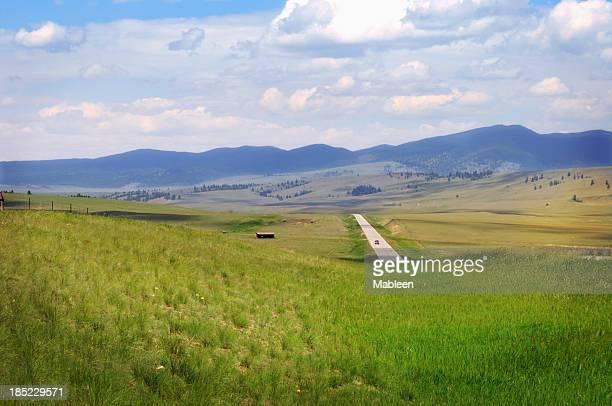 Montana road in summer