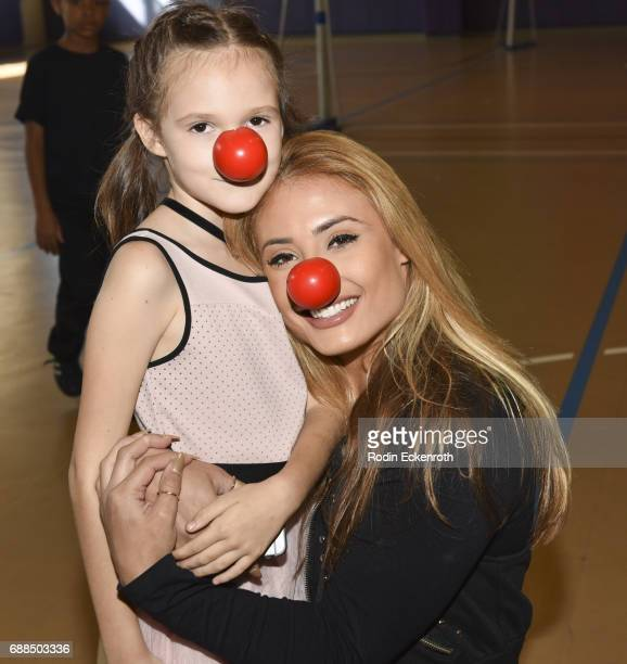 Montana Tucker poses for portrait during Red Nose Day at Union Rescue Mission on May 25 2017 in Los Angeles California
