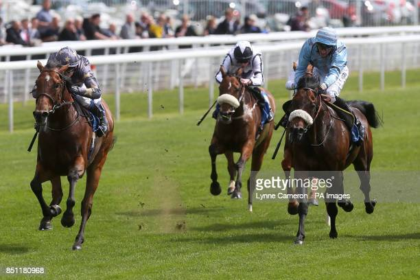 Montaser ridden by Jamie Spencer wins The Jigsaw Sponsorship Services Stakes at York Racecourse York