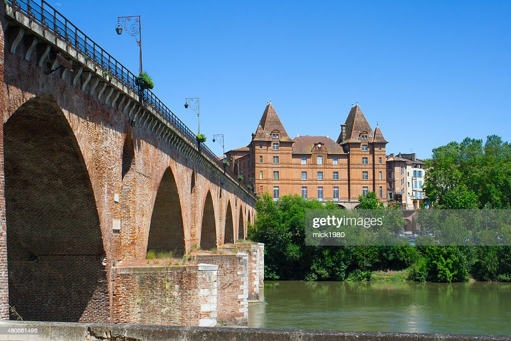 Montauban cityscape : Stock Photo