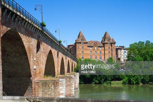 Montauban cityscape : Stock Photo