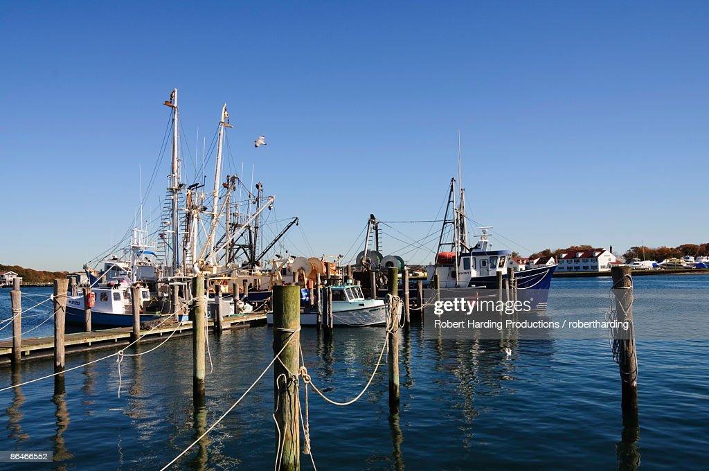 Montauk Harbour, Montauk, Long Island, New York State, United States of America, North America