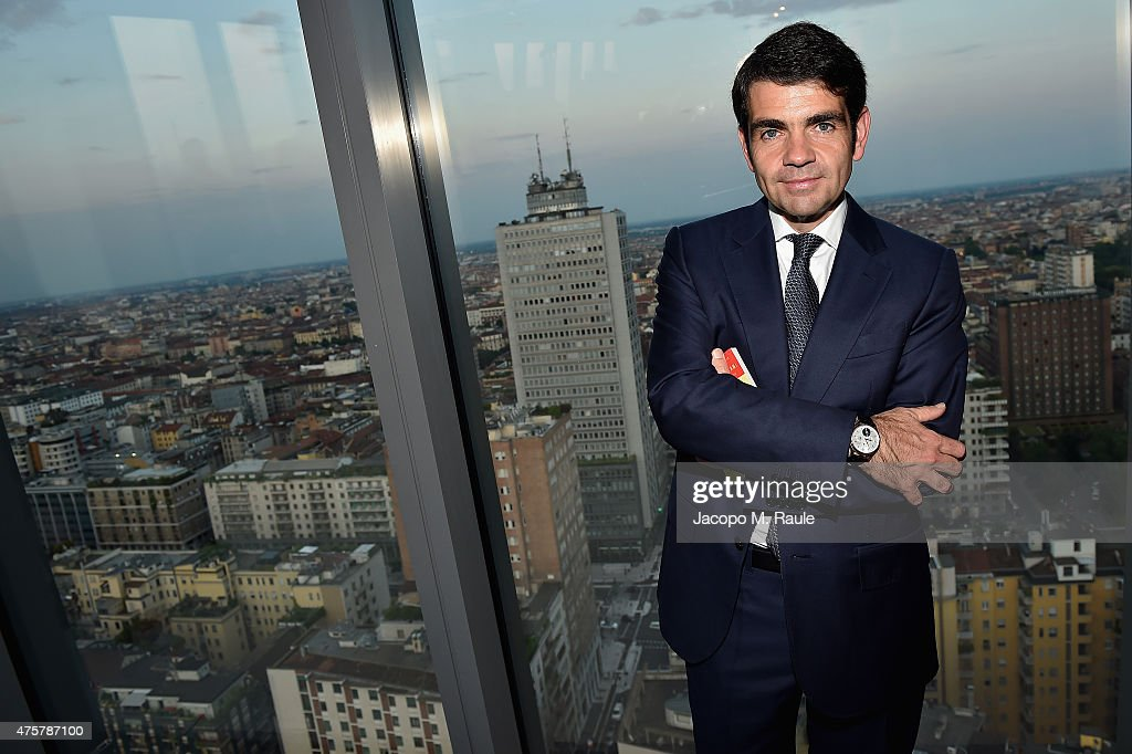 Montblanc CEO Jerome Lambert attends 'Montblanc M' Writing Instruments Launch cocktail party on June 3 2015 in Milan Italy