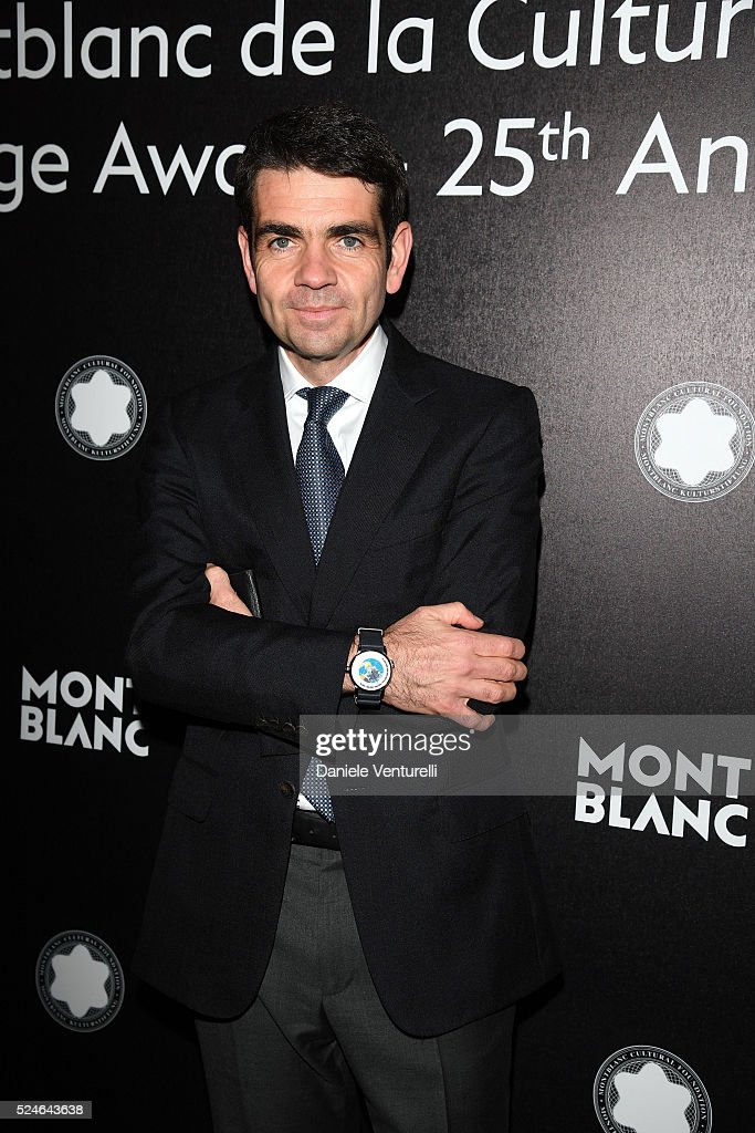 Montblanc Jerome Lambert attends Montblanc Arts Patronage Award 25th Anniversary Gala Diner at Palazzo Polignac on April 26 2016 in Venice