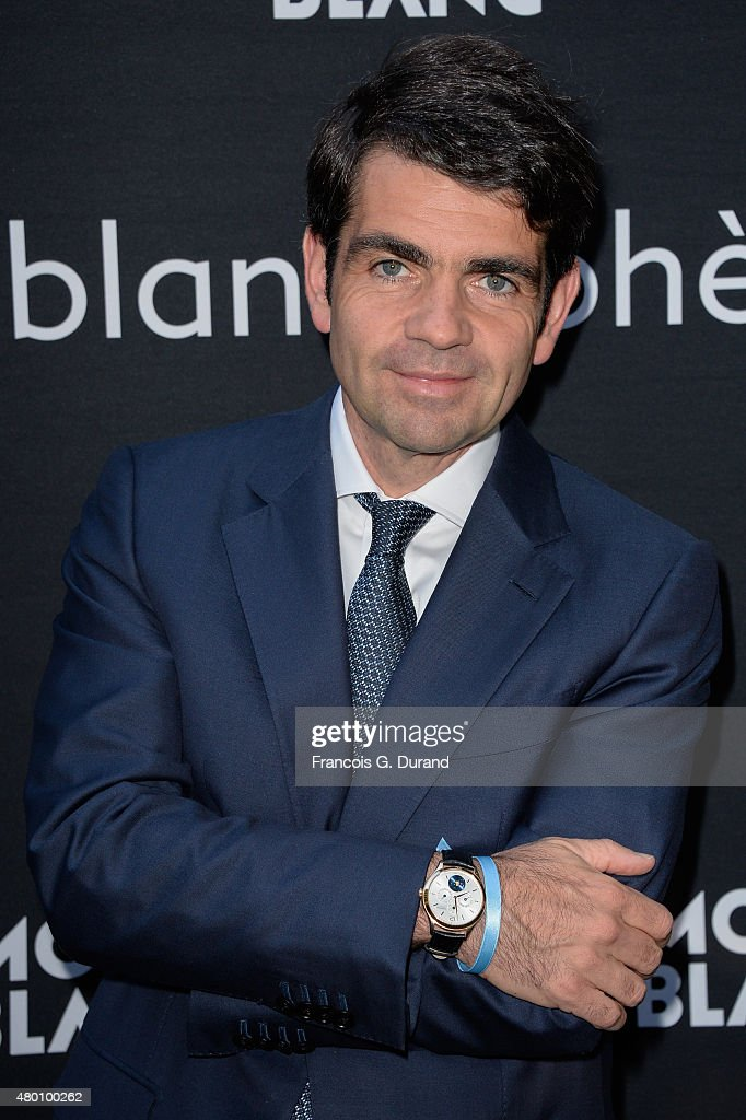 Montblanc Jerome Lambert attends the Montblanc Boheme Event Paris Photocall in Orangerie Ephemere at Jardin des Tuileries on July 9 2015 in Paris...
