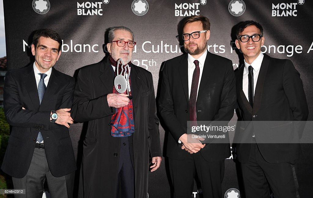 Montblanc Jerome Lambert Giorgio Marconi Till Fellrath and Sam Bardaouil attend Montblanc Arts Patronage Award 25th Anniversary Coctktail at Peggy...