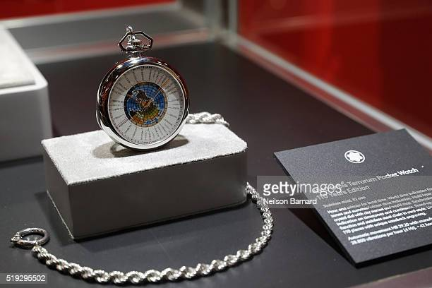 Montblanc on display at the Montblanc 110 Year Anniversary Gala Dinner on April 5 2016 in New York City
