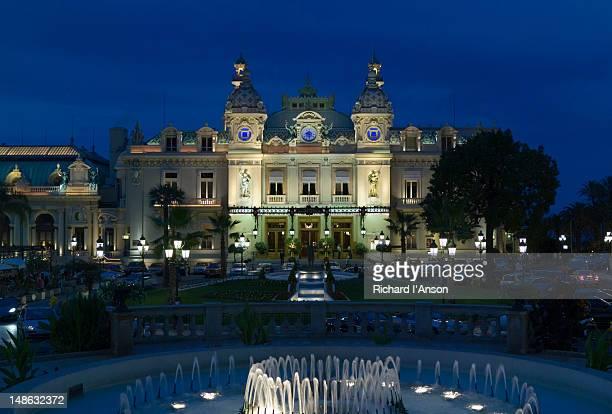 Monte Carlo Casino at dusk.