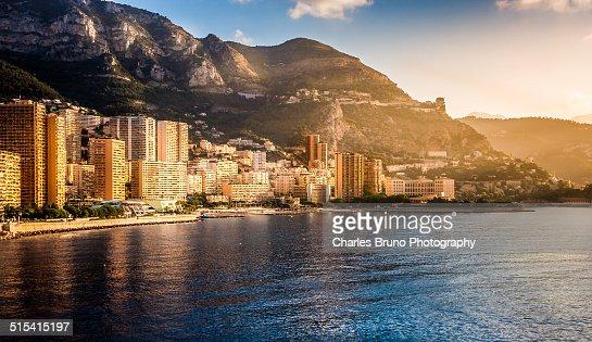 Monte Carlo Harbor at sunrise